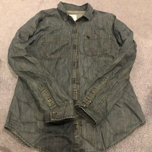 Abercrombie and Fitch button front shirt M